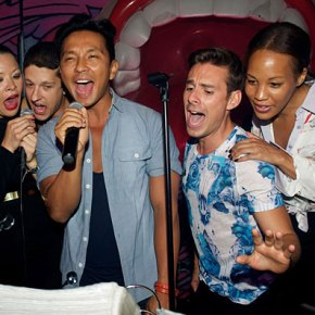 Prabal Gurung and friends at his NYFW Fall13 after party