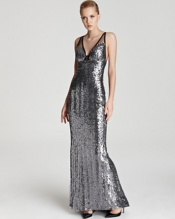 Faviana Sequin Gown, V Neck $398