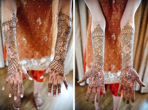 Henna designs on hand