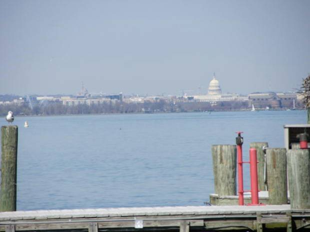 View of DC from Old Town Alexandria
