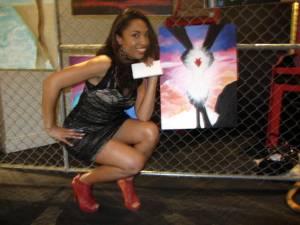 Artist Dorjeanaetay posing by her work