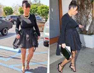 Kim black peplum