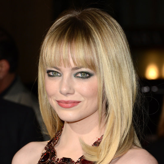 Emma Stone wearing green eyeliner. Image from Babble.