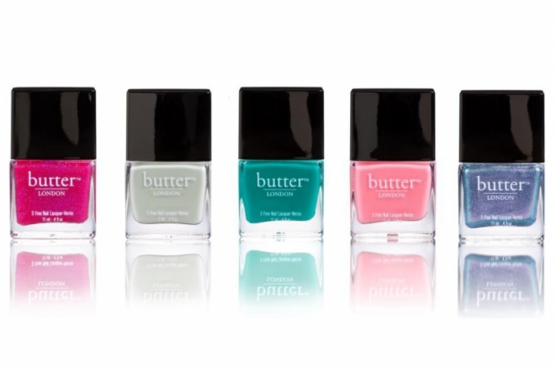 Different shades of Butter London nail polish