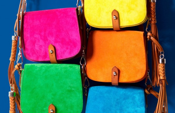 Neon colored satchels