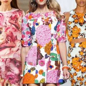 Floral print on the runway