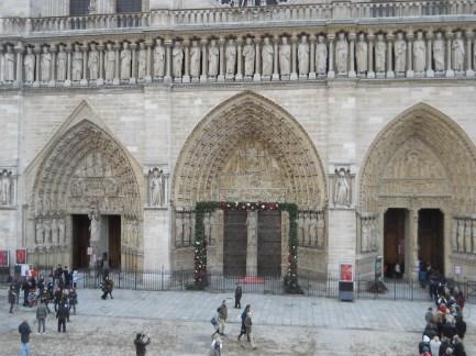 Notre Dame for Christmas mass 2