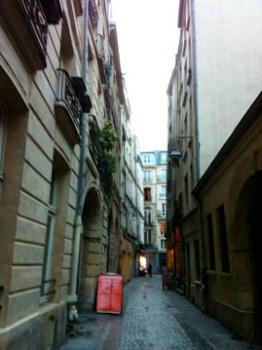 Tny street in the Marais