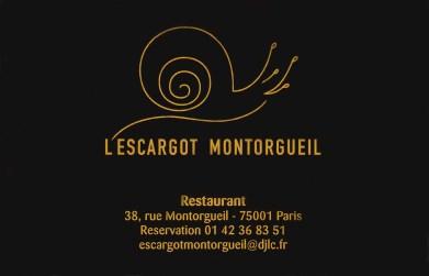 L'Escargot Montorgueil business card