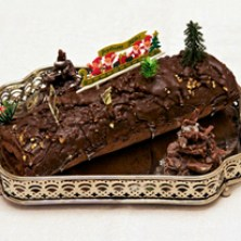 Traditional buche de noel