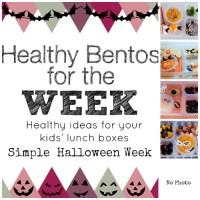 Healthy Bentos of the Week: Simple Halloween Week