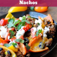 Baked Pepper Nachos