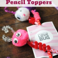 Love Bug Pencil Toppers for Valentine's Day {FREE Printable} {Video}