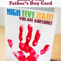 Printable Hand Print Father's Day Card