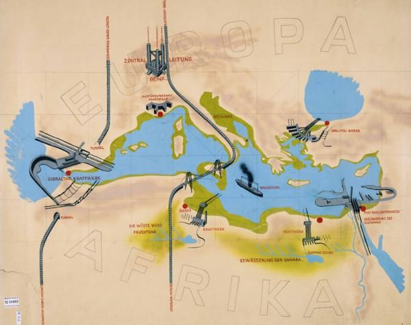 Atlantropa-plan-mapa-Evropa-600x475