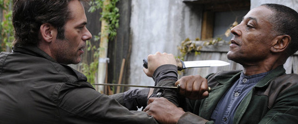 Billy Burke as Miles Matheson and Giancarlo Esposito as Captain Tom Neville in Revolution. Credit: Brownie Harris/NBC