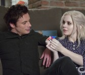 """iZombie -- """"Maternity Liv"""" -- Image Number: ZMB107A _0250 -- Pictured (L-R): Bradley James as Lowell Tracey and Rose McIver as Olivia """"Liv"""" Moore -- Photo: Diyah Pera/The CW -- © 2015 The CW Network, LLC. All rights reserved."""