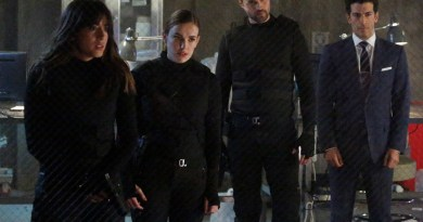 "MARVEL'S AGENTS OF S.H.I.E.L.D. - ""The Dirty Half Dozen"" - Gonzales and Coulson must find a way to put their differences aside and work together against Hydra, even if it means teaming up with someone they don't trust, on ""Marvel's Agents of S.H.I.E.L.D.,"" TUESDAY, APRIL 28 (9:00-10:00 p.m., ET) on the ABC Television Network. (ABC/Kelsey McNeal) CHLOE BENNET, ELIZABETH HENSTRIDGE, BRETT DALTON, SIMON KASSIANIDES"