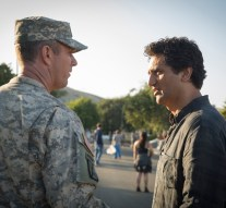 Jamie McShane as Lt. Moyers and Cliff Curtis as Travis - Fear The Walking Dead _ Season 1, Episode 4 - Photo Credit: Justina Mintz/AMC