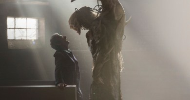 Picture shows: Peter Capaldi as the Doctor with The Fisher King