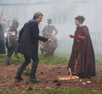 Picture shows: Peter Capaldi as the Doctor and Maisie Williams as Me