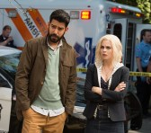 "iZombie -- ""Grumpy Old Liv"" -- Image Number: ZMB201a_0219.jpg -- Pictured (L-R): Rahul Kohil as Dr. Ravi Chakrabarti and Rose McIver as Olivia ""Liv"" Moore -- Photo: Diyah Pera/The CW -- © 2015 The CW Network, LLC. All rights reserved."