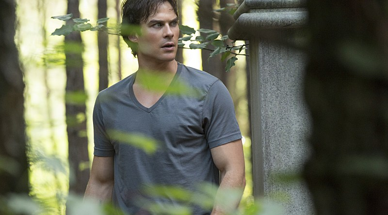 "The Vampire Diaries -- ""Never Let Me Go"" -- Image Number: VD702a_0013.jpg -- Pictured: Ian Somerhalder as Damon -- Photo: Bob Mahoney/The CW -- © 2015 The CW Network, LLC. All rights reserved."
