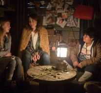 """GRIMM -- """"Lost Boys"""" Episode 503 -- Pictured: (l-r) Emma Rose Maloney as Lily, Bree Turner as Rosalee Calvert, Julio Cesar Chavez as Miguel -- (Photo by: Scott Green/NBC)"""