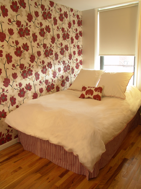 Bedroom Ideas Red And Cream Part - 31: Guest-bedroom-bed