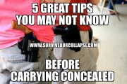 5 great tips before carrying concealed