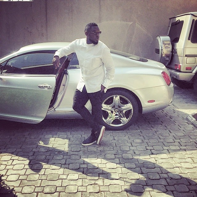 OMG! Timaya survives horrible car crash – You need to see how his Bentley got wrecked!! (+Photo)