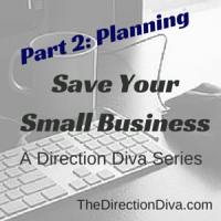 Planning: Save Your Small Business (Part 2) - A Series by Judy Davis, The Direction Diva