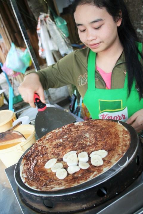 Laos banana & chocolate pancake