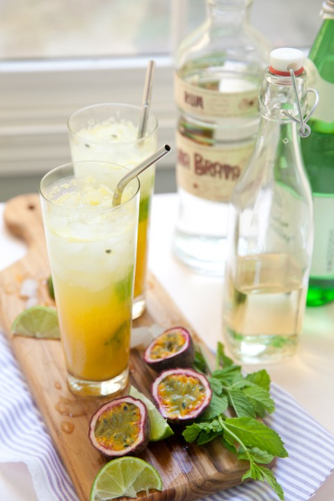 Cocktails, Mojito, Pineapple, Passion Fruit, Cocktail, Summer, Iced, Mint, Tropical