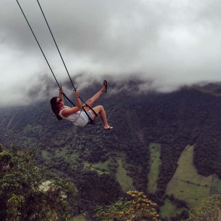 Travel, Quit your job, TropicsGourmet, Wanderlust, big swing, adventure, Banos, Ecuador