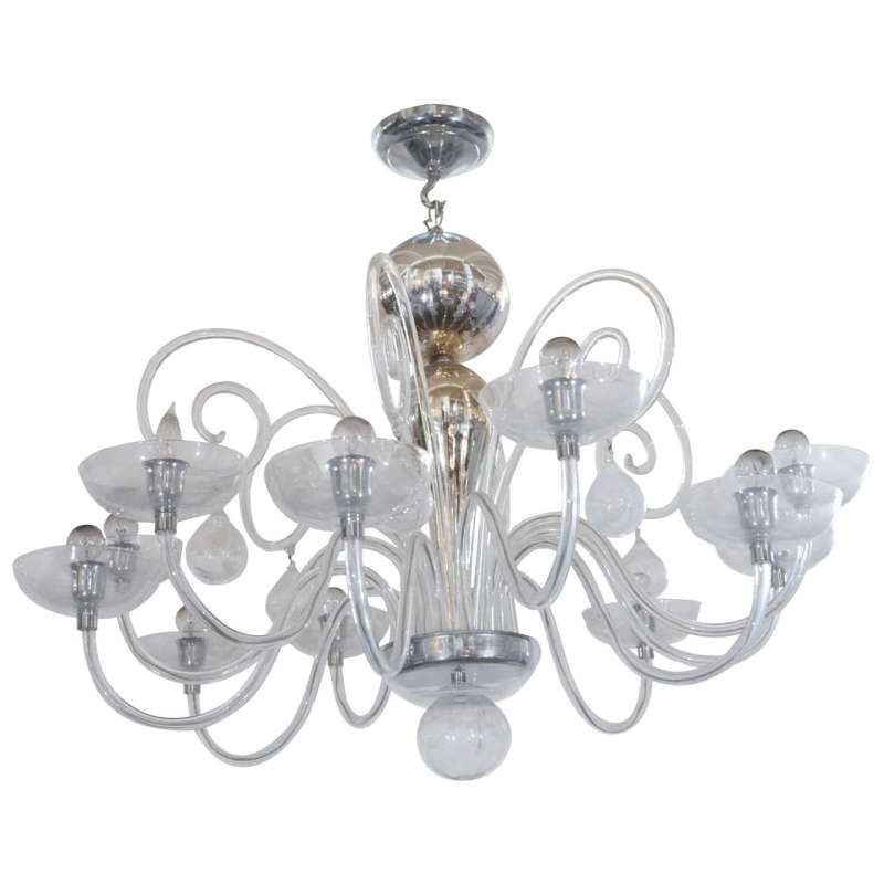 Large Of Blown Glass Chandelier