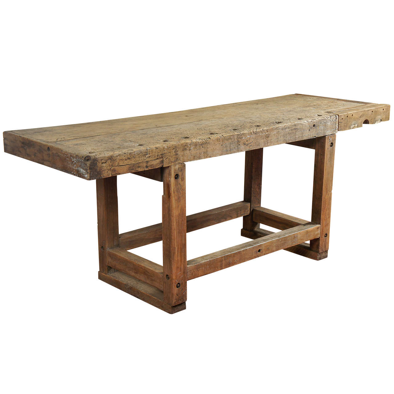 id f industrial kitchen table Industrial Workbench Kitchen Island Table 1