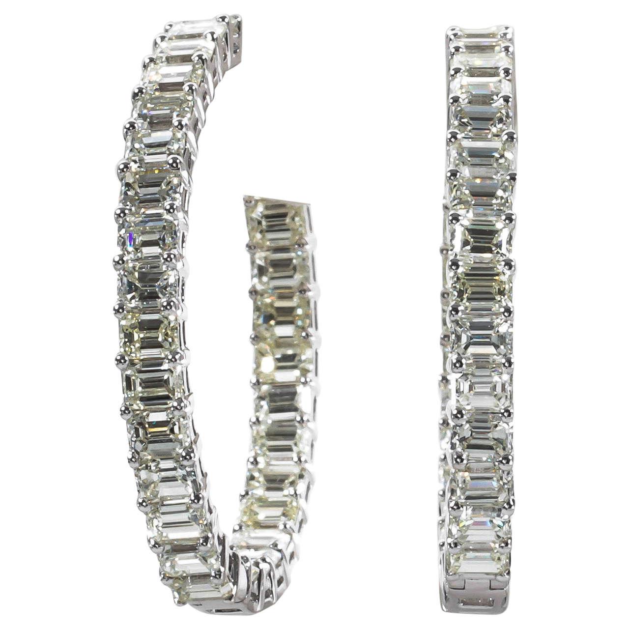Fullsize Of Diamond Hoop Earrings