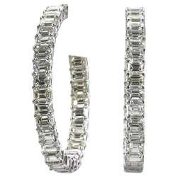 Comfy Sale At Diamond Hoop Earrings Huggies Diamond Hoop Earrings Guys Emerald Cut Diamond G Hoop Earrings