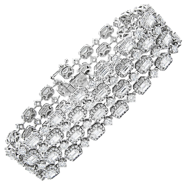Nice Emerald Cut Diamond Tennis Bracelet Halo Sale At Diamond Tennis Bracelet Jcpenney Diamond Tennis Bracelet Rose G wedding diamonds Diamond Tennis Bracelet