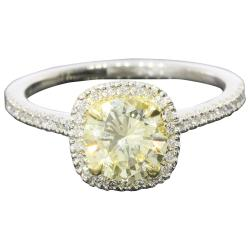 Small Crop Of Yellow Diamond Engagement Ring
