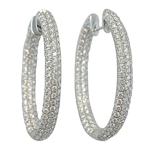 Medium Of Diamond Hoop Earrings
