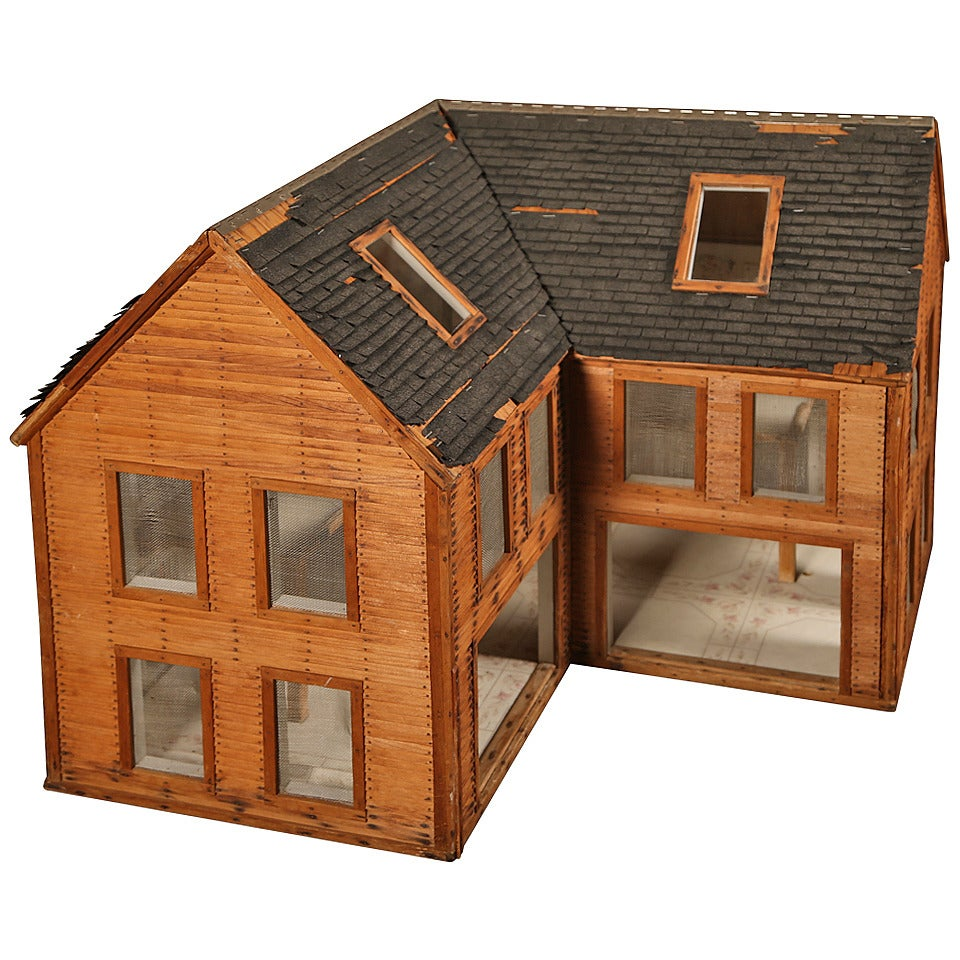 Masterly Vintage Wooden Doll House Wood Architectural Model Sale Vintage Wooden Doll House Wood Architectural Model Sale At Wooden Dollhouse To Build Wooden Dollhouse Kit baby Wooden Doll House