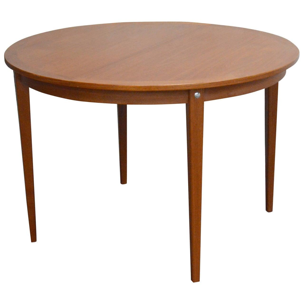 id f mid century kitchen table Mid Century Modern Round Swedish Teak Dining Table 1