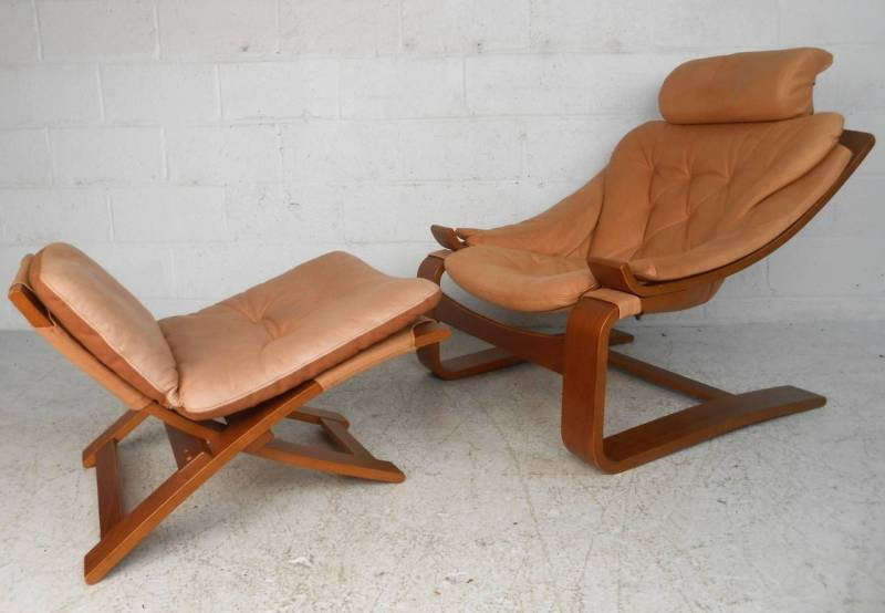 Large Of Leather Chair Mid Century