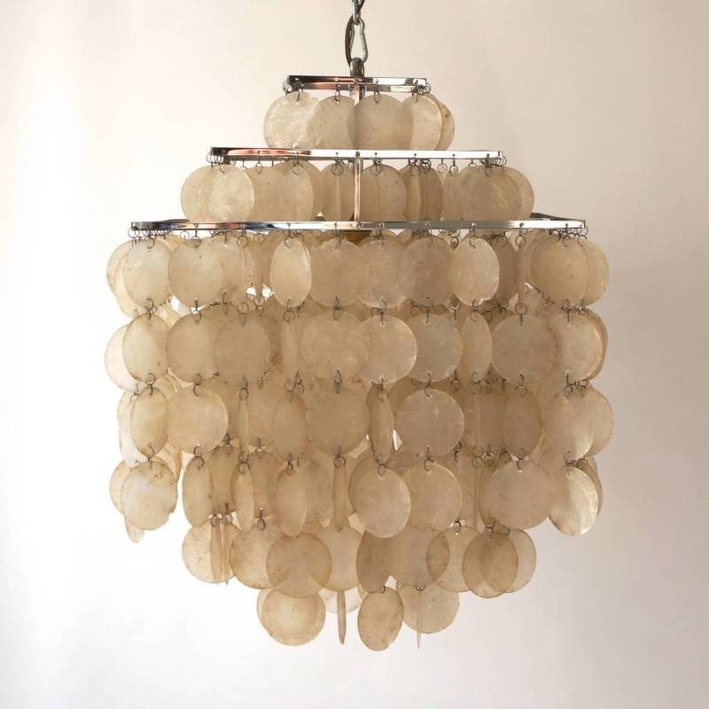 Large Of Capiz Shell Chandelier