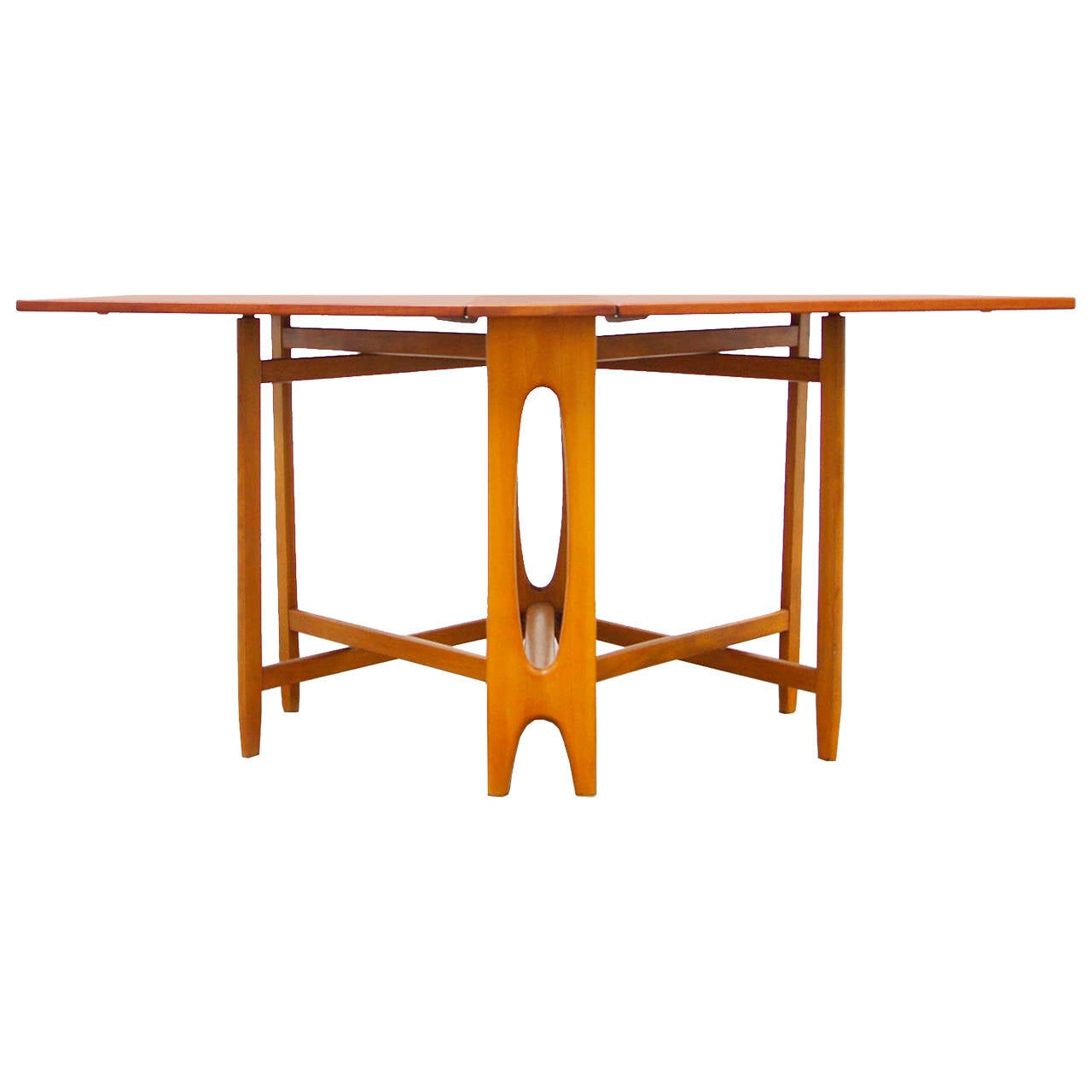 id f mid century kitchen table Gateleg Dining Table Danish Mid Century Modern Design 1