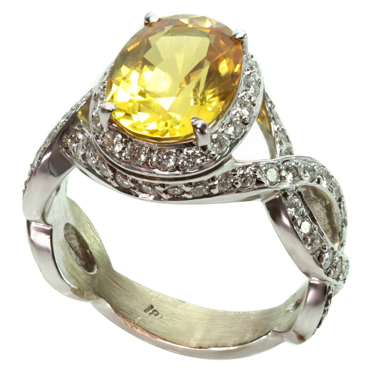 Lovable Sale Oval Yellow Sapphire Diamond G Cocktail Ring Inclusions Oval Yellow Sapphire Diamond G Cocktail Ring Sale At Yellow Sapphire Ring 14kyg Woman Yellow Sapphire Ring wedding rings Yellow Sapphire Ring