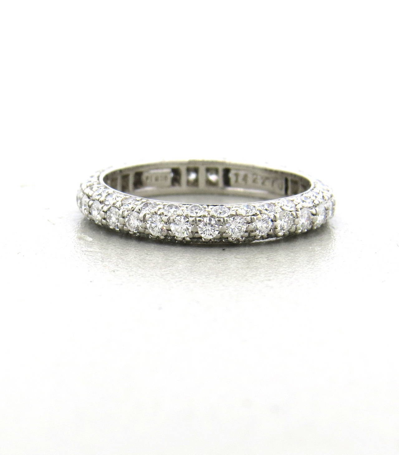 id j harry winston wedding rings Harry Winston Diamond Platinum Wedding Band Ring 2