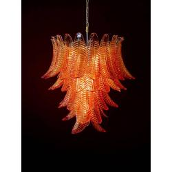Small Crop Of Blown Glass Chandelier
